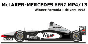 McLaren Mercedes Benz MP4/13 n.8 Formula 1 World Champion 1998