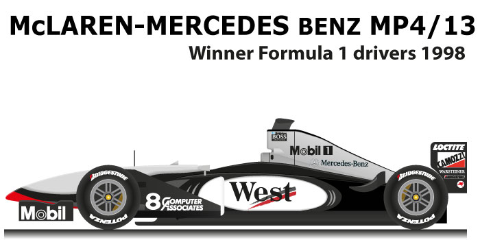 McLaren Mercedes Benz MP4/13 n.8 Formula 1 World Champion 1998