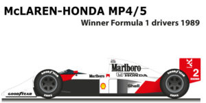 McLaren Honda MP4/5 Formula 1 Champion with Alain Prost
