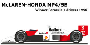 McLaren Honda MP4/5B Formula 1 World Champion 1990 with Ayrton Senna