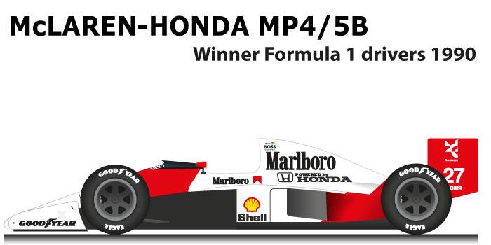 McLaren Honda MP4/5B Formula 1 World Champion 1990 with Ayrton Senna