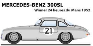 Mercedes-Benz 300 SL n.21 winner 24 Hours of Le Mans 1952