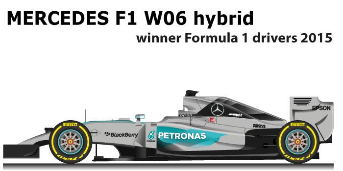 Mercedes F1 W06 Hybrid n.44 winner Formula 1 World Champion 2015