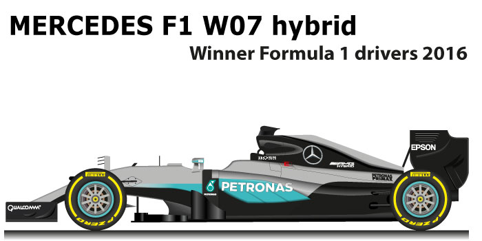 Mercedes F1 W07 Hybrid n.6 winner Formula 1 World Champion 2016
