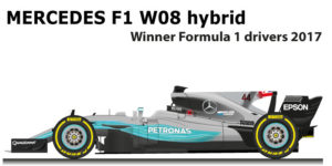 Mercedes F1 W08 Hybrid n.44 winner Formula 1 World Champion 2017