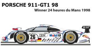 Porsche 911 GT1-98 n.26 Winner 24 Hours of Le Mans 1998