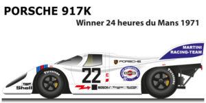 Porsche 917 K n.22 winner 24 Hours of Le Mans 1971 with Marko and van Lennep