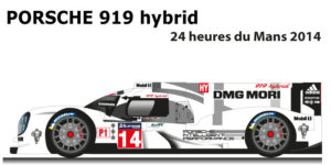 Porsche 919 hybrid n.14 eleventh at the 24 Hours of Le Mans 2014