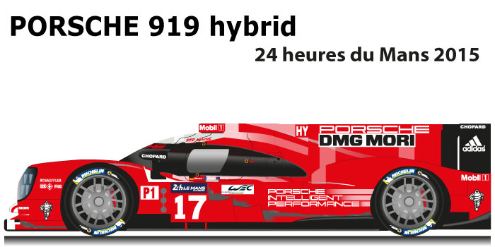 Porsche 919 hybrid n.17 second at 24 hours of Le Mans 2015