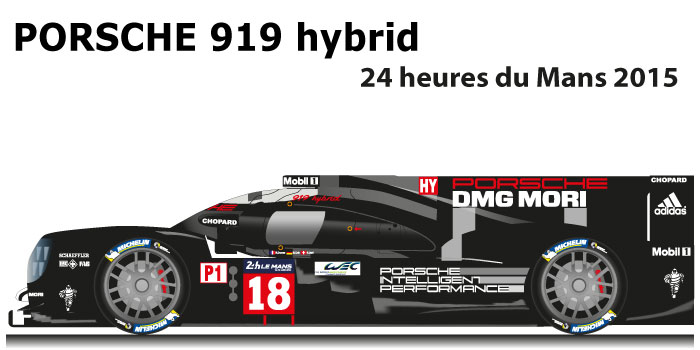 Porsche 919 hybrid n.18 5th at the 24 hours of Le Mans 2015
