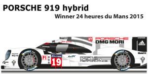 Porsche 919 hybrid winner 24 Hours of le Mans 2019