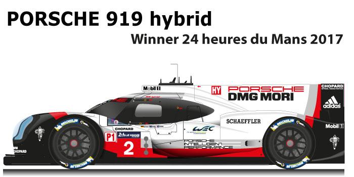 Porsche 919 hybrid n.2 winner 24 Hours of Le Mans 2017