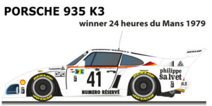 Porsche 935 K3 n.41 winner 24 Hours of Le Mans 1979