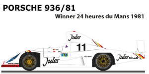 Porsche 936/81 n.11 winner 24 Hours of Le Mans 1981 with Bell, Ickx
