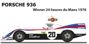 Porsche 936 n.20 winner 24 Hours of Le Mans 1976 with Ickx ano van Lennep