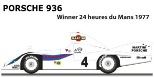 Porsche 936 n.4 winner 24 Hours of Le Mans 1977 with Barth, Ickx, Haywood