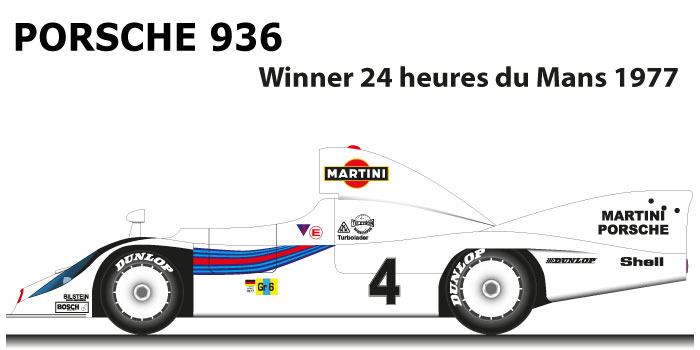 porsche 936 n 4 winner 24 hours of le mans 1977 with barth