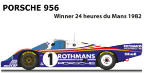 Porsche 956 n.1 winner 24 Hours of Le Mans 1982 with drivers Ickx and Bell