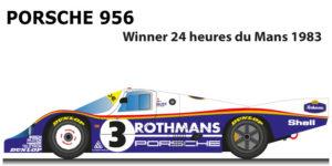 Porsche 956 n.3 winner 24 Hours of Le Mans 1983 Schuppan, Holbert, Haywood