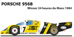 Porsche 956B n.7 winner 24 Hours of Le Mans 1984 with Ludwig and Pescarolo