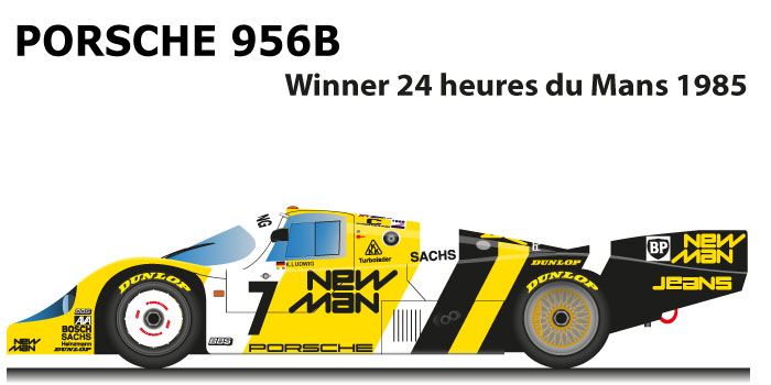 Porsche 956B n.7 winner 24 Hours of Le Mans with drivers Ludwig, Barilla, Winter