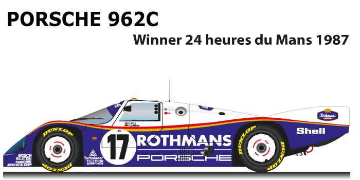 Porsche 962C n.17 winner 24 Hours of Le Mans 1987