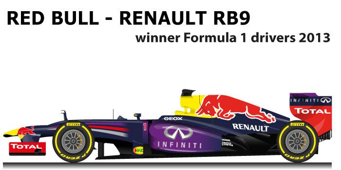Red Bull - Renault RB9 n.1 winner Formula 1 World Champion 2013