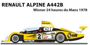 Renault Alpine A442 n.2 Winner 24 Hours of Le Mans 1978