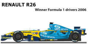 Renault R26 n.1 winner Formula 1 World Champion 2006 with Alonso