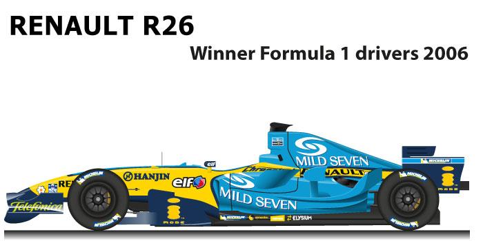 Renault R26 n.1 winner Formula 1 World Champion 2006 with Alonso