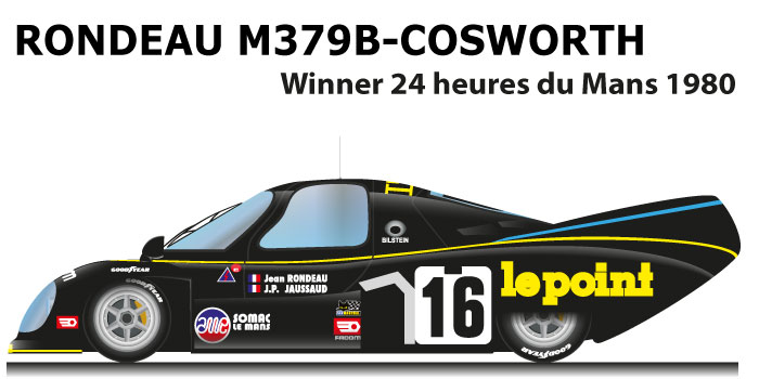 Rondeau M379B Cosworth n.16 winner 24 Hours of Le Mans 1980