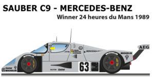Sauber Mercedes-Benz C9 n.63 Winner 24 Hours of Le Mans 1989