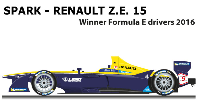 Spark - Renault Z.E. 15 n.9 winner Formula E World Champion 2016 with Buemi