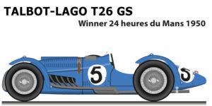 Talbot-Lago T26 GS n.5 winner 24 Hours of Le Mans 1950