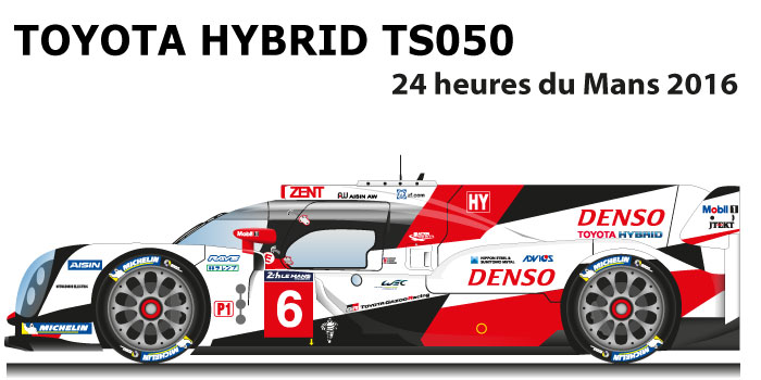 Toyota hybrid TS050 n.6 24 Hours of Le Mans 2016