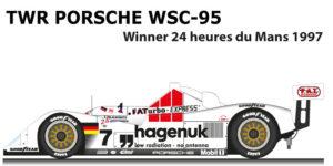 TWR Porsche WSC-95 n.7 Winner 24 Hours of Le Mans 1997