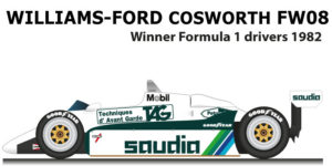 Williams - Ford Cosworth FW08 n.6 winner Formula 1 Champion 10982