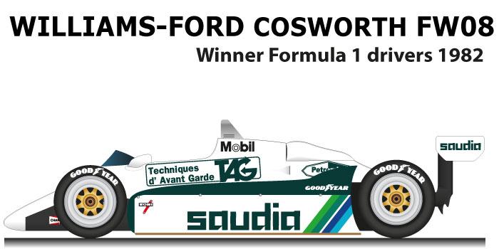 Williams - Ford Cosworth FW08 n.6 winner Formula 1 Champion 10982