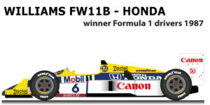 Williams - Honda FW11B n.6 winner Formula 1 Champion with Piquet