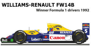 Williams - Renault FW14B n.5 winner Formula 1 World Champion 1992
