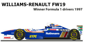 Williams - Renault FW19 n.3 winner Formula 1 World Champion 1997