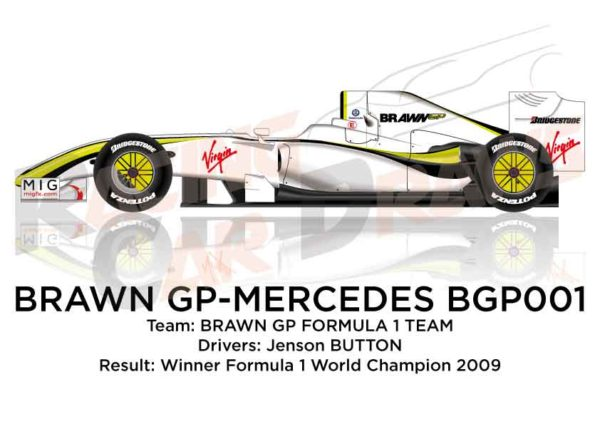 Brawn - Mercedes-Benz BGP001 n.22 winner Formula 1 Champion 2009
