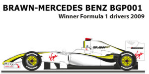 Brawn Mercedes-Benz BGP001 winner Formula 1 Champion 2009