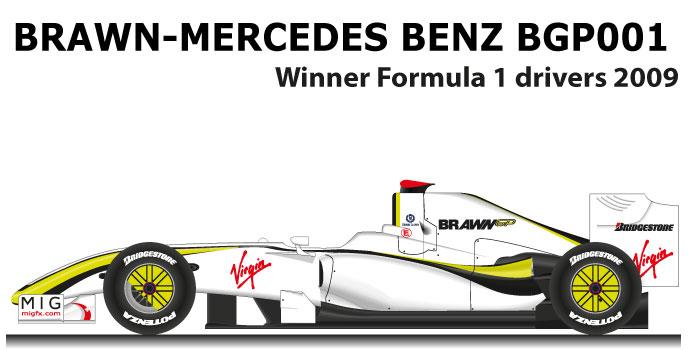 Brawn Mercedes-Benz BGP001 winner Formula 1 Champion 2009