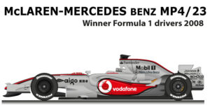 McLaren Mercedes Benz MP4/23 Formula 1 Champion 2008 with Hamilton