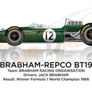 Brabham - Repco BT19 winner Formula 1 World Championship 1966