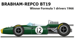 Brabham Repco Bt19 Formula 1 World Championship 1966 with Jack Brabham