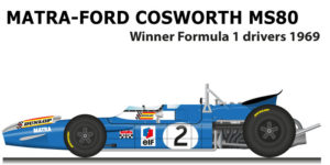 matra ford cosworth ms80 winner formula 1 champion 1969