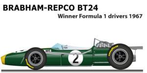 brabham repco t24 winner formula 1 champion 1967