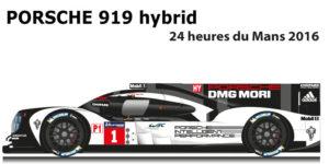 Porsche 919 hybrid n.1 24 hours of Le Mans 2016